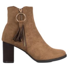 Filippo Stylové suede boty hnědý