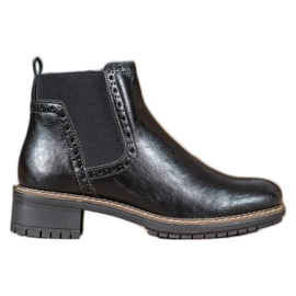 Filippo Černé boty s ekologickou kůží černá