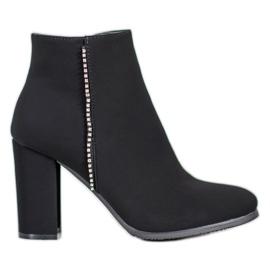 Seastar Matné boty s kubickým zirkonem černá