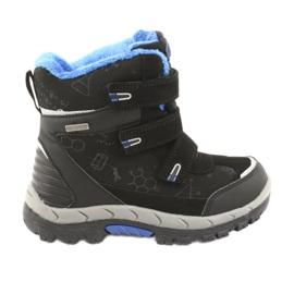 Černé boty Softshell s membránou American Club HL20 černá modrý