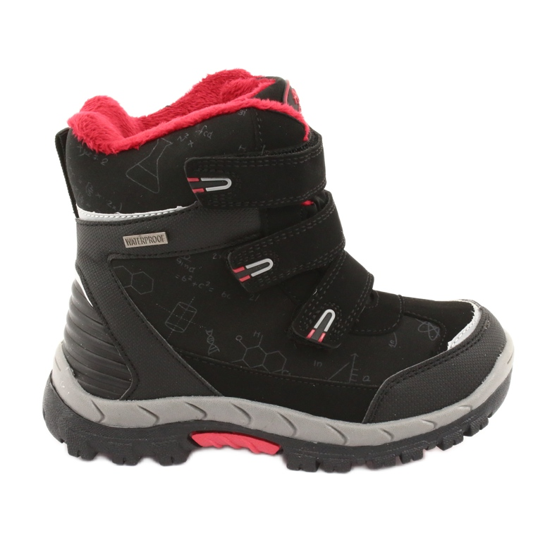 Černé boty Softshell s membránou American Club HL20 černá červená