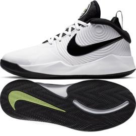 Obuv Nike team Hustle D 9 (GS) Jr AQ4224-100 bílá bílá
