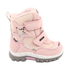 Boty American Club s membránou RL37 star pink růžový