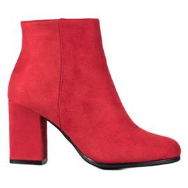 Marquiz Červené semišové boty červená