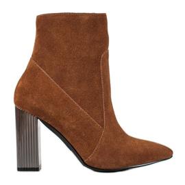 Goodin Sexy kožené boty hnědý