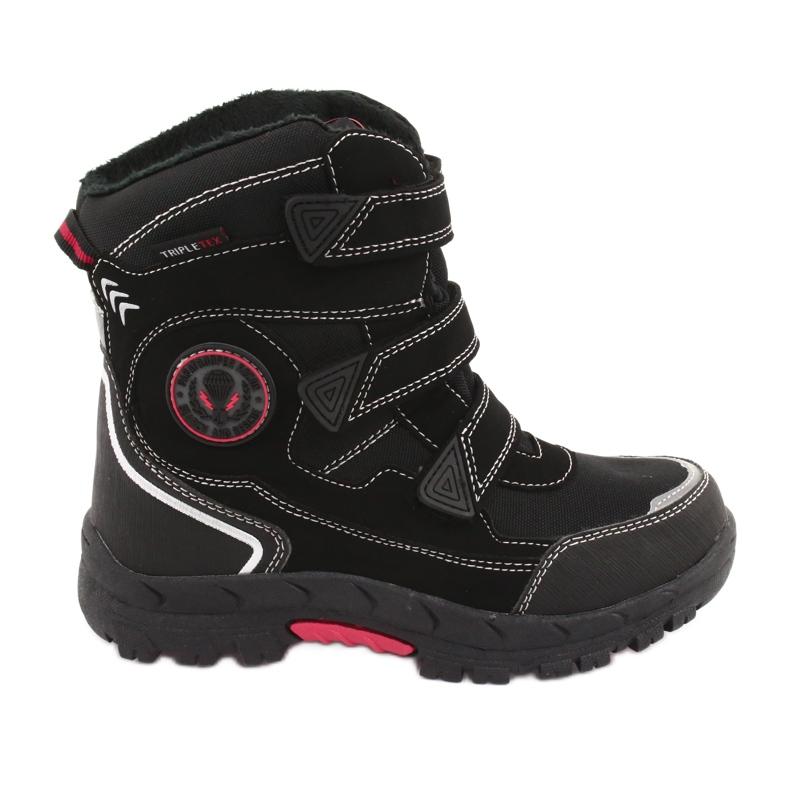 American Club Americké černé boty HL23 s membránou černá červená