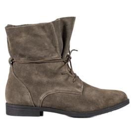Filippo Klasické kožené boty šedá