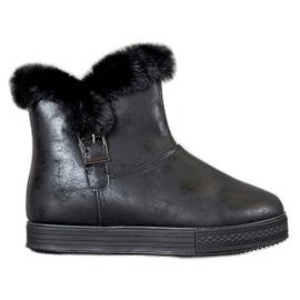 SHELOVET Kotníkové boty černá