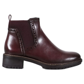 Filippo Burgundské kotníkové boty s eko kůží červená