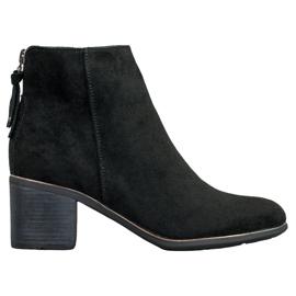 Goodin Černé semišové boty černá