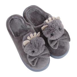 Dámské pantofle DD112 Šedá