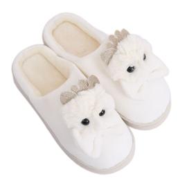 Béžové dámské pantofle hnědý