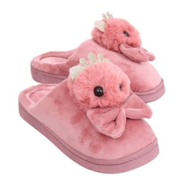 Špinavé růžové dámské pantofle DD112 Růžová růžový