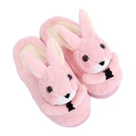 Dámské pantofle Bunnies světle růžové MA17 Pink růžový