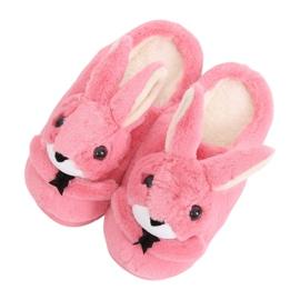 Dámské pantofle zajíčků tmavě růžové MA17 Red růžový