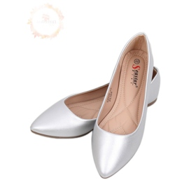 Mandlové stříbrné baleríny na nohou CD52P Silver šedá