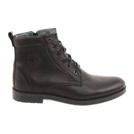 Vysoké boty se zipem Riko 884 černé černá
