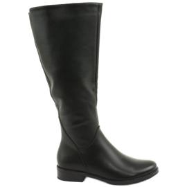 Kožené boty Daszyński SA62 černé černá