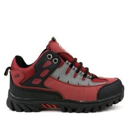 Červené dámské trekové boty W317