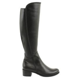 Dlouhé boty s copánky Espinto 194 Darex černá