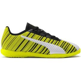 Kopačky Puma One 5.4 It Jr 105664 04 bílá, černá, žlutá žlutý
