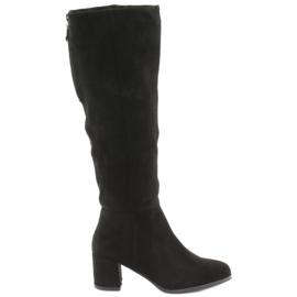 Černé boty Sergio Leone černá