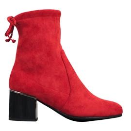 Goodin Stylové červené boty červená