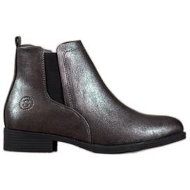 Sergio Leone Stříbrné boty Jodhpur šedá