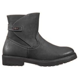 Sergio Leone Pohodlné černé kotníkové boty černá