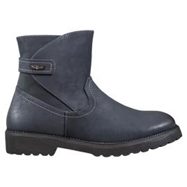 Sergio Leone Pohodlné Navy Blue Boots