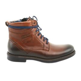 Nikopol 700 zipové hnědé boty hnědý