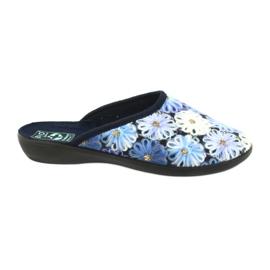 Pantofle žabky 3D Adanex 24192 tmavě modrá