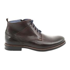 Nikopol 702 kožené boty na zip hnědý
