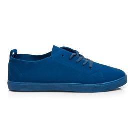 SDS Kožené tenisky modrý