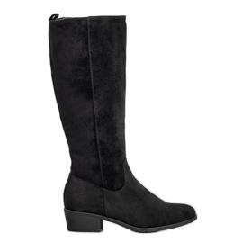 Filippo Klasické semišové boty černá