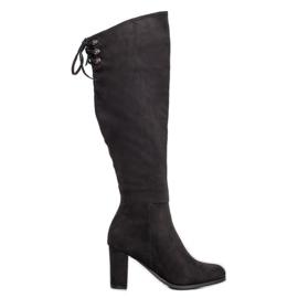 Suede boty VINCEZA černá