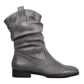 Sergio Leone Šedá kovbojská obuv