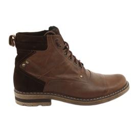 Kotníkové boty izolované Moskała BR-4 hnědý