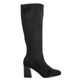 Filippo Elegantní suede boty černá