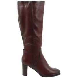 Ekologické kožené boty VINCEZA červená