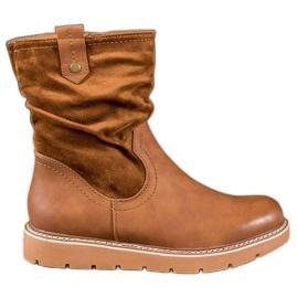 Ideal Shoes Pracovníci platformy hnědý