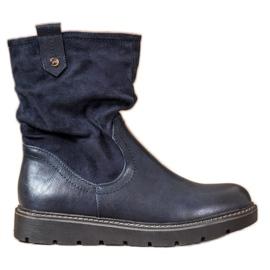 Ideal Shoes Pracovníci platformy modrý