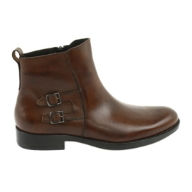 Kožené boty Moskała hnědý