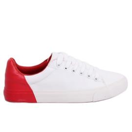 Dámské tenisky bílé a červené A88-29 W-RED II Type