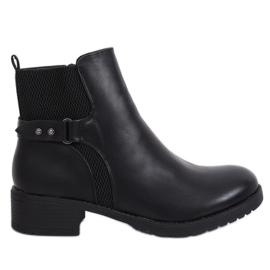 Black Black Jodhpur boty 1089 Black černá