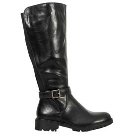 Filippo Černé boty s gumou černá