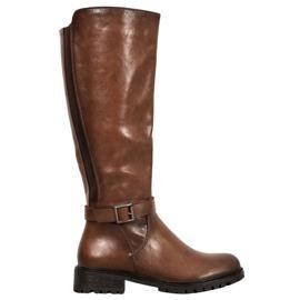 Filippo Hnědé boty s gumou hnědý