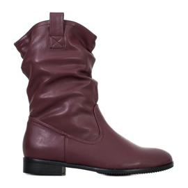 Sergio Leone Burgundské kovbojské boty červená