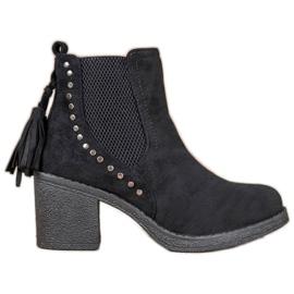 Small Swan Jodhpur boty se střapci černá