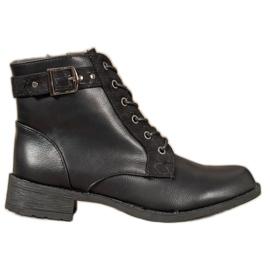 Small Swan Klasické šněrovací boty černá